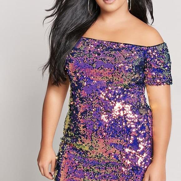 9768c0bac Forever 21 Dresses | Womens Plus Size Sequin Offtheshoulder Dress ...